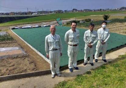 農地の防草シート施工事例 (畑)