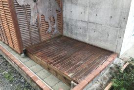 [M.K様]雑草対策事例(農機具小屋の下)
