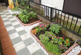 [KOERI様]雑草対策事例_一ヶ月後の花壇