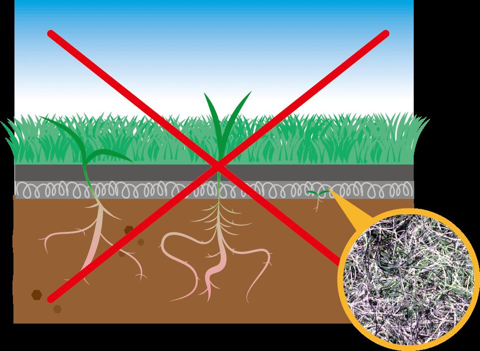 不織布構造で密度の低い防草シート